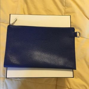 Authentic Longchamp Le Foulonne Pouch Clutch